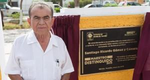 Santiago Gómez y Cámara, Maestro Distinguido en Yucatán 2015