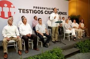 Presenta Nerio Torres Arcila Testigos Ciudadanos fincando compromiso con la transparencia
