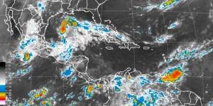 Pronostican lluvia muy fuerte en Veracruz, Tabasco, Oaxaca y Chiapas