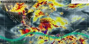 El Huracán Carlos categoría I, generara lluvias intensas en varios Estados de México