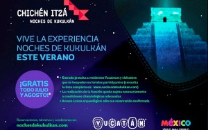 """Más yucatecos y turistas disfrutarán de """"Noches de Kukulcán"""" de forma gratuita"""