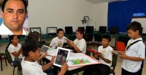 Anuncia el gobernador, entrega de tabletas electrónicas a todos los alumnos del  5º grado de primaria