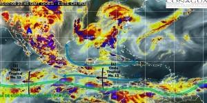 Prevén lluvias fuertes en el sur de Chiapas, Veracruz y Tabasco