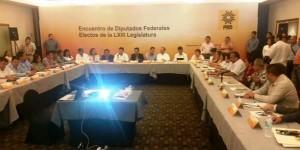 Se reúnen Diputados federales electos del PRD en Tabasco