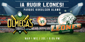 Olmecas vs Leones: Interesante serie en el Parque Kukulcán Alamo
