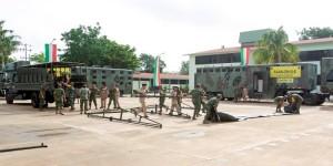 SEDENA y PROCIV Yucatán, listos para atender contingencias