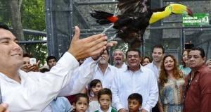 Parque Ximbal aviario y el domo de vuelo libre en Campeche