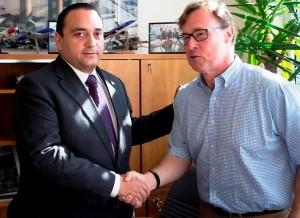 Se reúne el gobernador Roberto Borge con autoridades del aeropuerto de Dublín