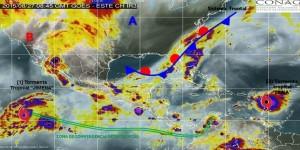 Se pronostican lluvias intensas en Veracruz, Tabasco y Guerrero