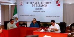 Valida Tribunal Electoral de Tabasco elecciones en seis municipios