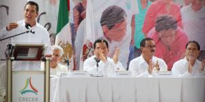 Trabajo coordinado para resolver los retos de los 11 municipios en Campeche: Alejandro Moreno