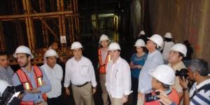 Supervisan avances del Túnel Sumergido de Coatzacoalcos