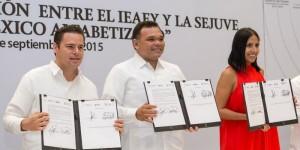 Jóvenes yucatecos se suman a Campaña Nacional de Alfabetización