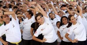 Participa Mariana Zorrilla de Borge en la activación física para prevenir enfermedades del Corazón