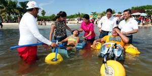 """Inaugura Mariana Zorrilla de Borge la segunda playa Inclusiva """"Punta Esmeralda"""", en Solidaridad"""