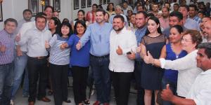 José Alfredo Gómez, registra su candidatura por la dirigencia del PAN en Tabasco