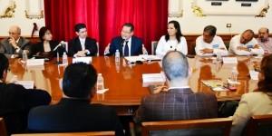 Se reúne Secretario de Gobierno con profesionistas de 15 colegios del estado