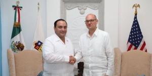 Sostiene el gobernador su primera reunión con el nuevo Cónsul General de Estados Unidos en Mérida
