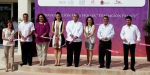"""Inaugura el gobernador Roberto Borge la casa hogar """"Fundación Palace"""""""