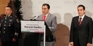 """El Huracán """"Sandra"""", tocara tierra mañana como tormenta tropical"""
