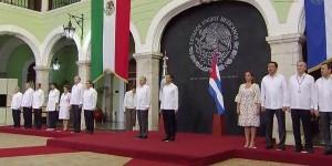 Los presidentes, Enrique Peña Nieto y Raúl Castro Ruz ya están en Yucatán