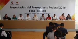 Presupuesto federal para Tabasco ascenderá a 18 mil 526.5 MDP en 2016: Arturo Núñez