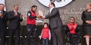 Entrega Javier Duarte Premio Estatal del Deporte 2015