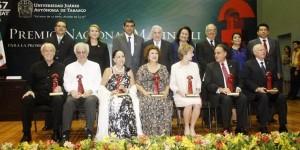 Entregan Núñez y Piña Premios Malinalli UJAT 2015