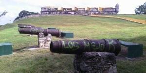 Gasfiteros dañan cañones del fuerte San José el Alto en Campeche: Lirio Suarez