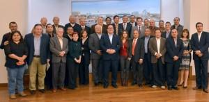 Se reúne el gobernador Javier Duarte con representantes de medios de comunicación