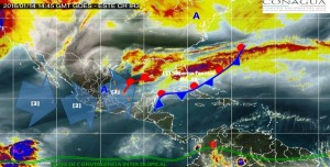 Se prevén lluvias fuertes en Veracruz, Chiapas, Tabasco, Yucatán y Quintana Roo: SMN