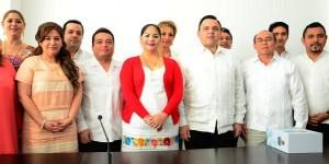 Recibe Congreso de Yucatán, el Tercer Informe de Gobierno de Rolando Zapata Bello