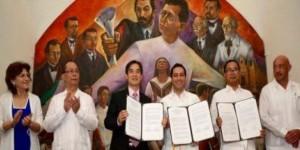 El alcalde firma Carta de Intención de Hermanamiento Mérida y Chengdu, China