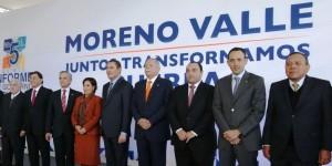 Asiste el gobernador Roberto Borge al V Informe de su homologo de Puebla, Rafael Moreno Valle