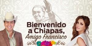 Anahi y Julion le cantan al Papa