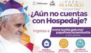 Ayuntamiento de Tuxtla ofrece información sobre visita del Papa en página web