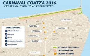 Cortes de circulación por Carnaval de Coatzacoalcos 2016