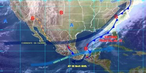 El Frente Frío Número 35 ocasionará lluvias intensas en Chiapas y Tabasco