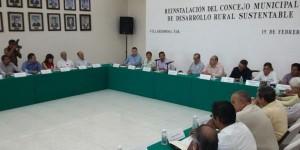 Reinstalan Consejo de Desarrollo Rural Sustentable 2016 en Centro