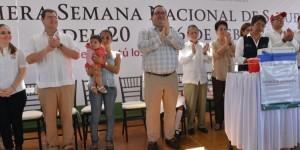 Con 450 mil dosis de vacunas, Veracruz atiende y garantiza la salud de sus niños