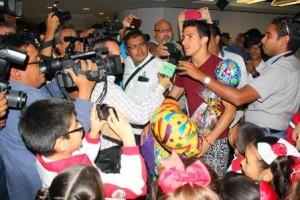 Yucatán recibe a Rommel Pacheco tras campeonato mundial