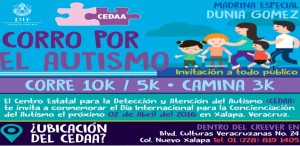 Inscríbete a la primera carrera Corro por el Autismo Xalapa 2016