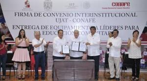 Formalizan Tabasco y CONAFE acuerdo a favor de la educación comunitaria