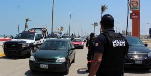 Refuerza Policía Estatal filtros de seguridad en Coatzacoalcos