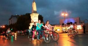 Crece la Bici-Ruta Nocturna en su segunda edición en Mérida
