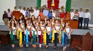 Visitan las Embajadoras instalaciones del Congreso de Tabasco