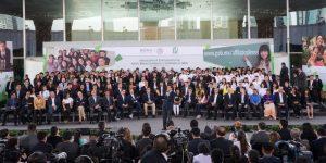 3 millones de jóvenes estudiantes están afiliados al IMSS; alcanzaremos la meta de 7 millones: Enrique Peña Nieto
