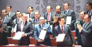 El gobernador de Campeche, Alejandro Moreno, presente en la Firma de Formalización de Empleo