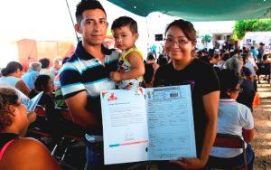 Más familias de Kanasín obtienen certeza patrimonial