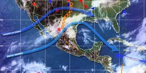 Las Ondas Tropicales responsables de las precipitaciones en la Península de Yucatán